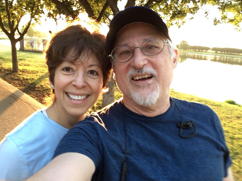My running buddy and former trainer, Monica Clausen.