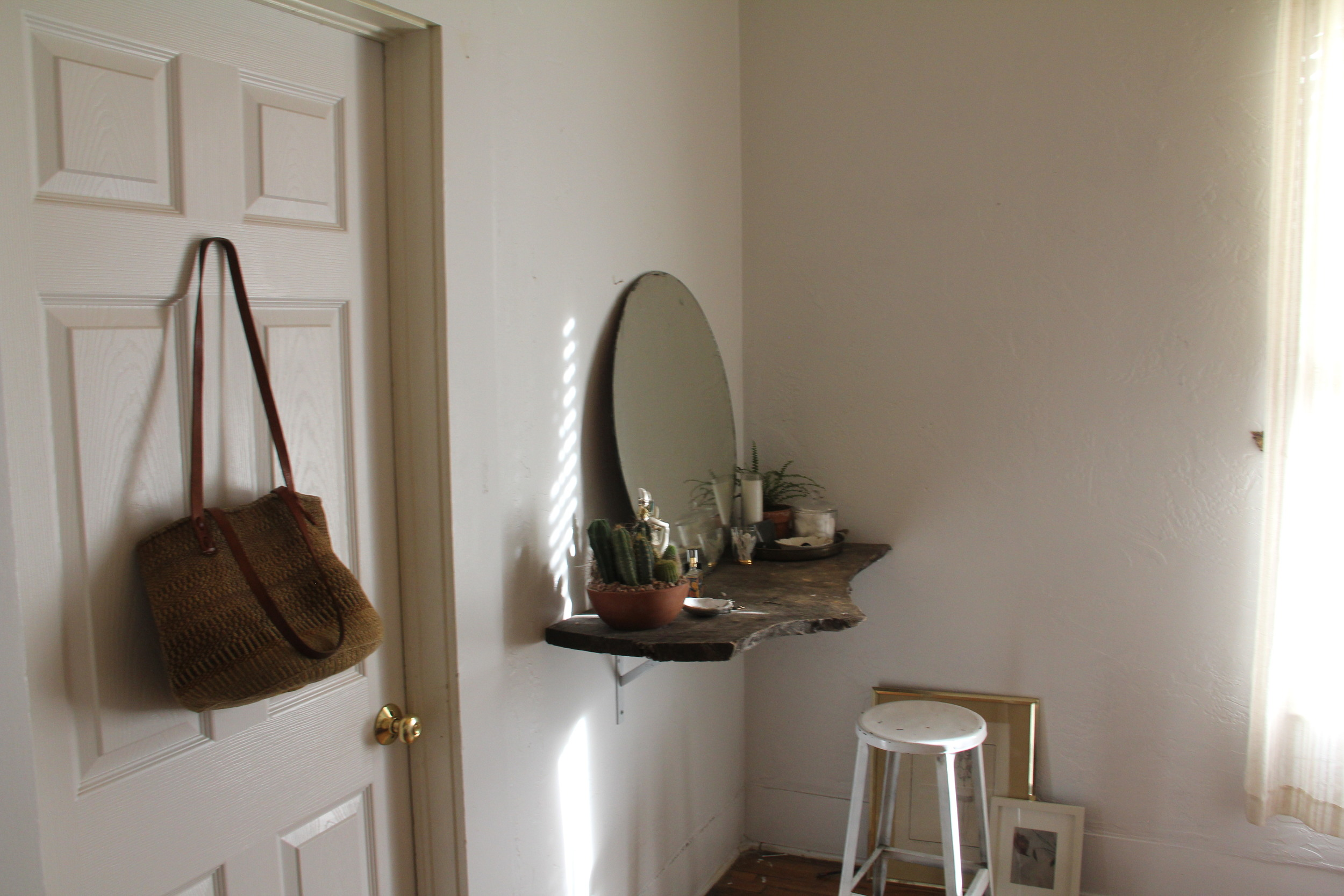 Linen Bedding: H&M | glass water jug: World Market | all other items shown are vintage