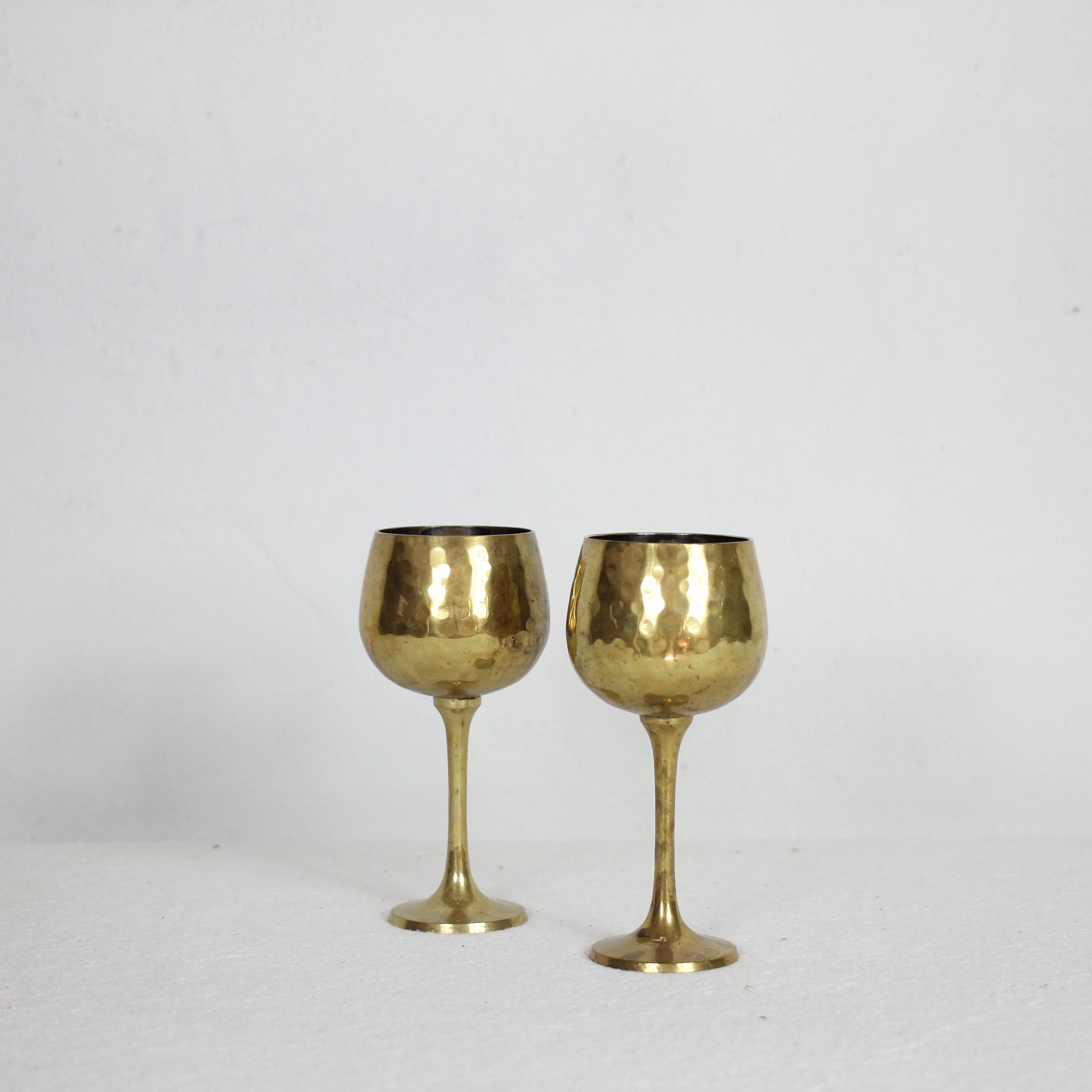Vintage Hammered Goblets | $39