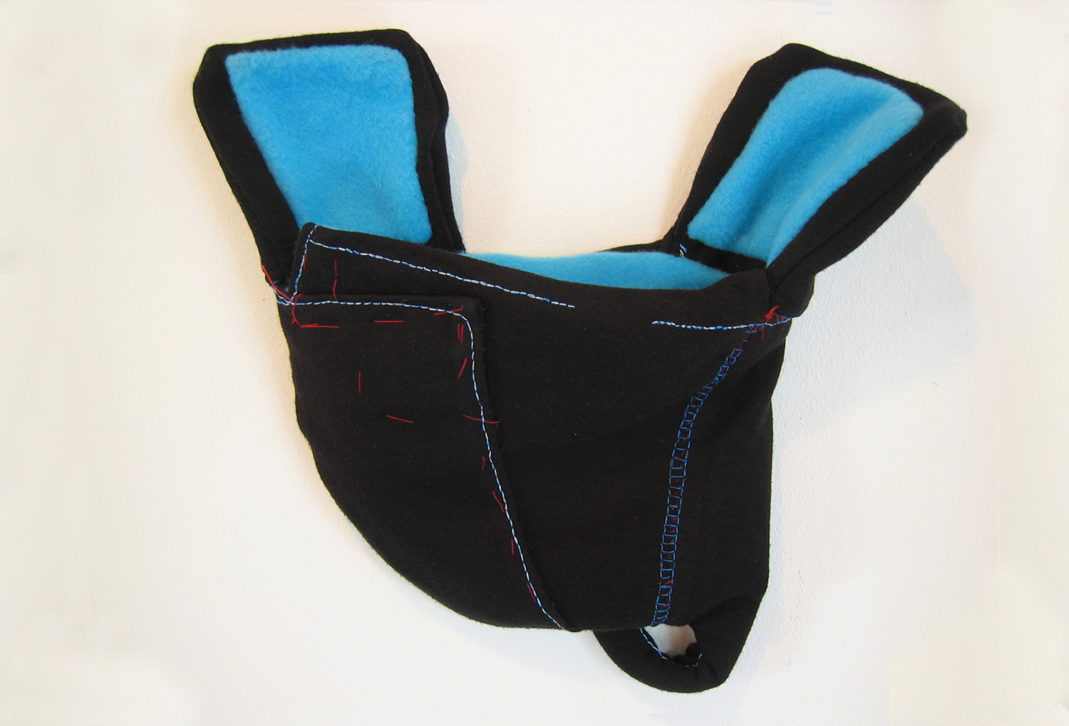 """2002 Proto-form. Form as """"functional"""" object. Wool and polyester fleece. Stitching. About 12"""" x 10"""""""