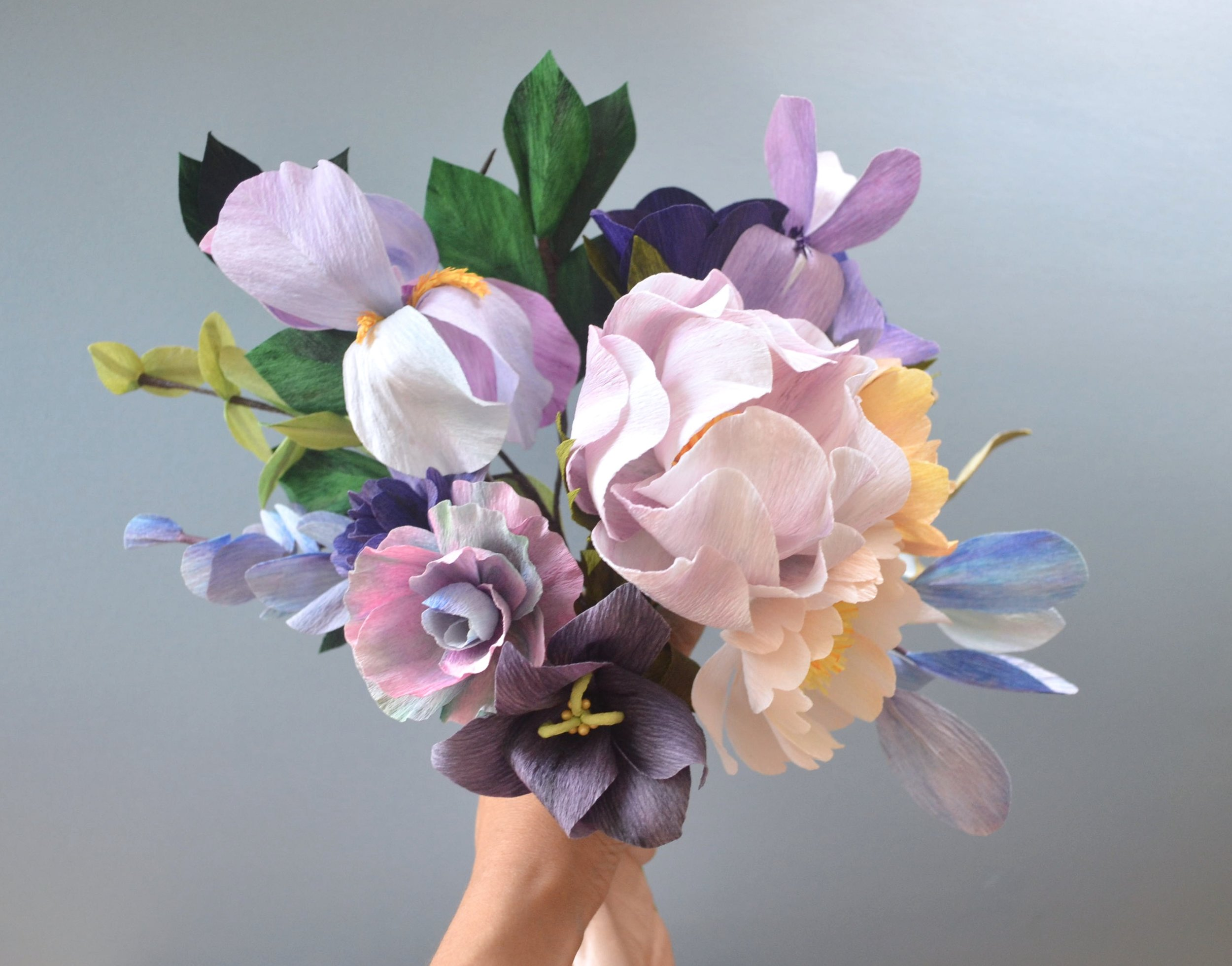 Georgia O'Keeffe inspired bouquet