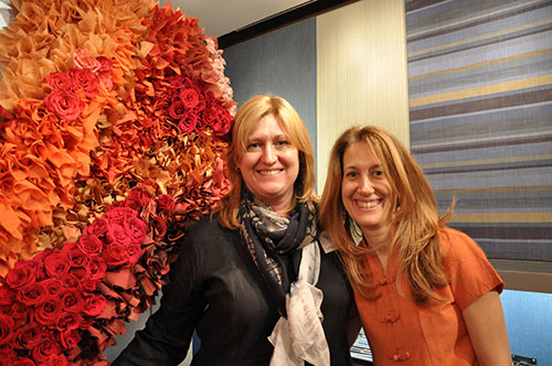 Heather Bush and Lori Weitzner at Carnegie