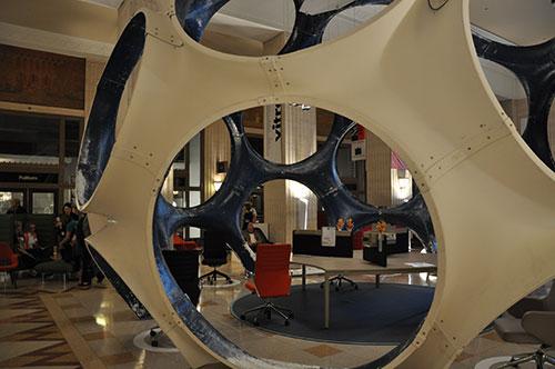 Buckminster Fuller geodesic dome in the Mart