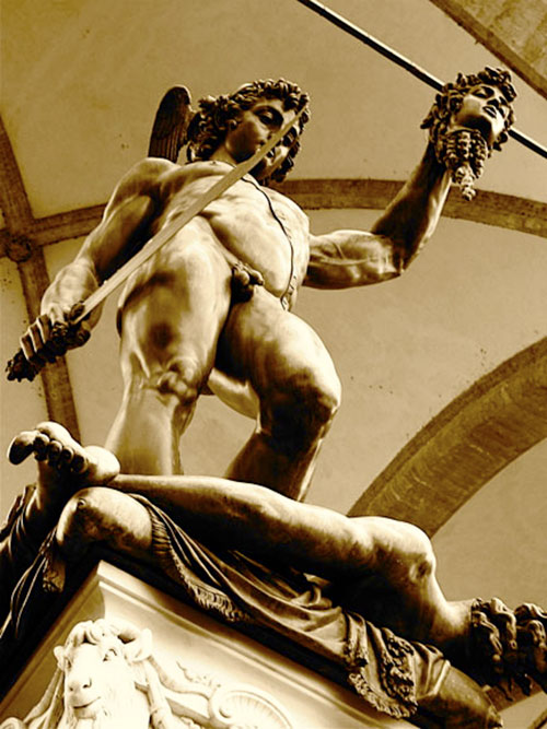 Cellini's Perseus with the Head of Medusa, Piazza della Signoria, Florence