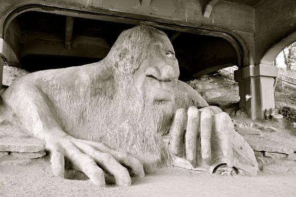 Fremont Troll (Troll Under the Bridge)
