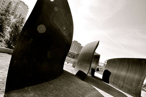 Richard Serra installation at Olympic Sculpture Park