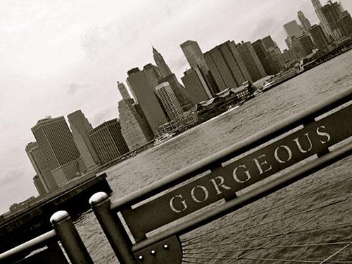 Fulton Ferry pier looking toward Manhattan