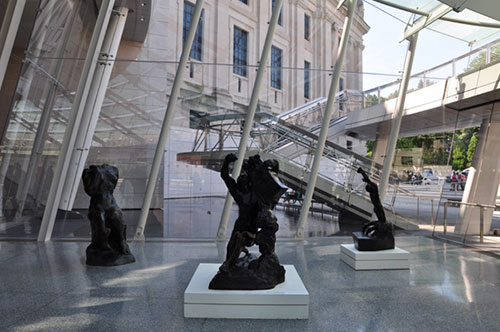 Rodin sculptures at the Brooklyn Museum