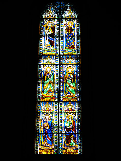 Stained glass inside Il Duomo, Florence