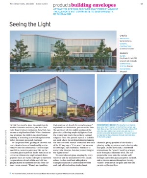 From  Architectural Record , March 2014