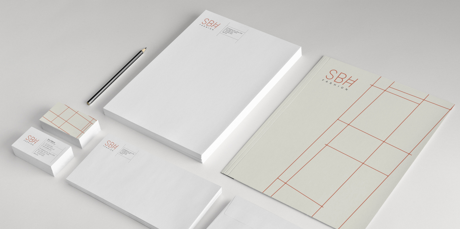 SBH Fashion Retail Stationary Design NYC