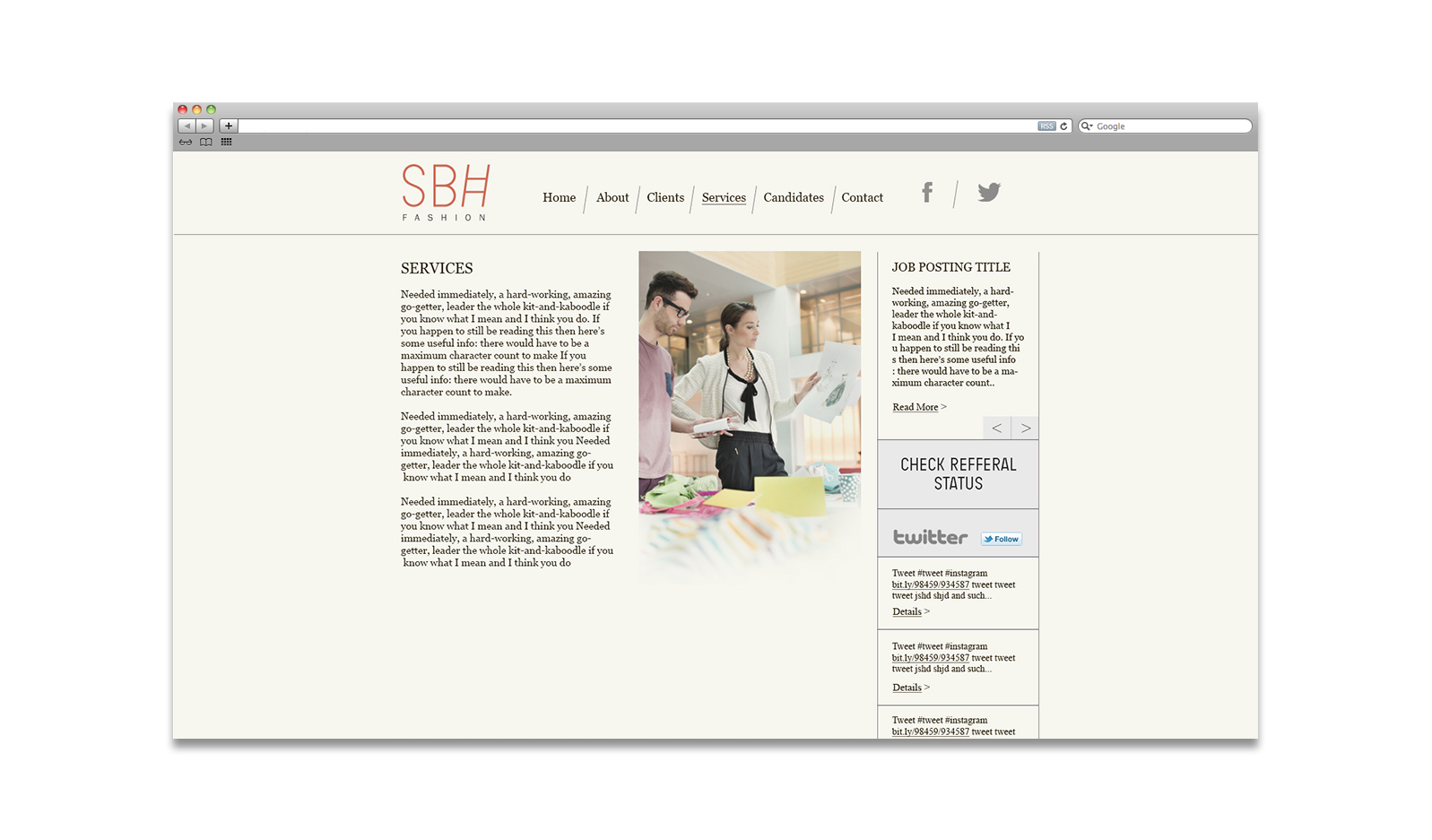 SBH Fashion Retail Website Design NYC
