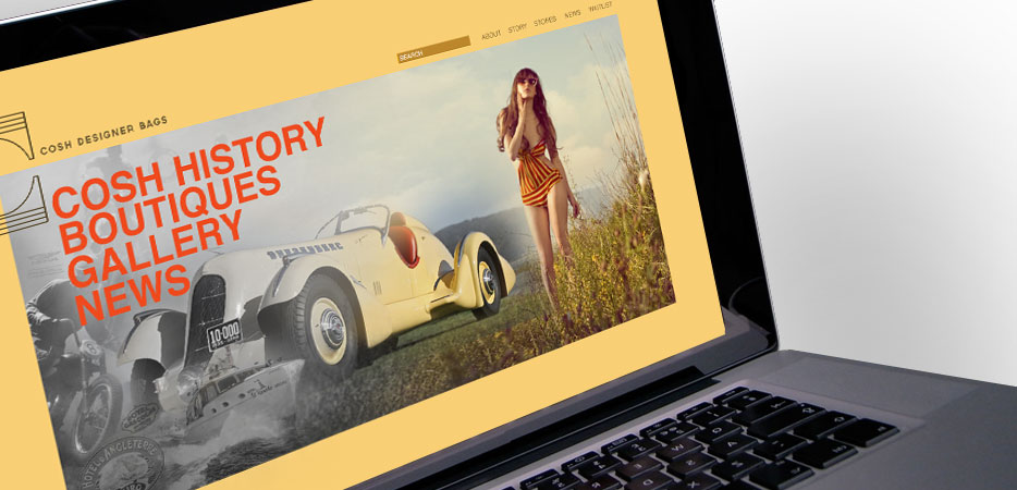 luxury luggage hangbag website design and branding