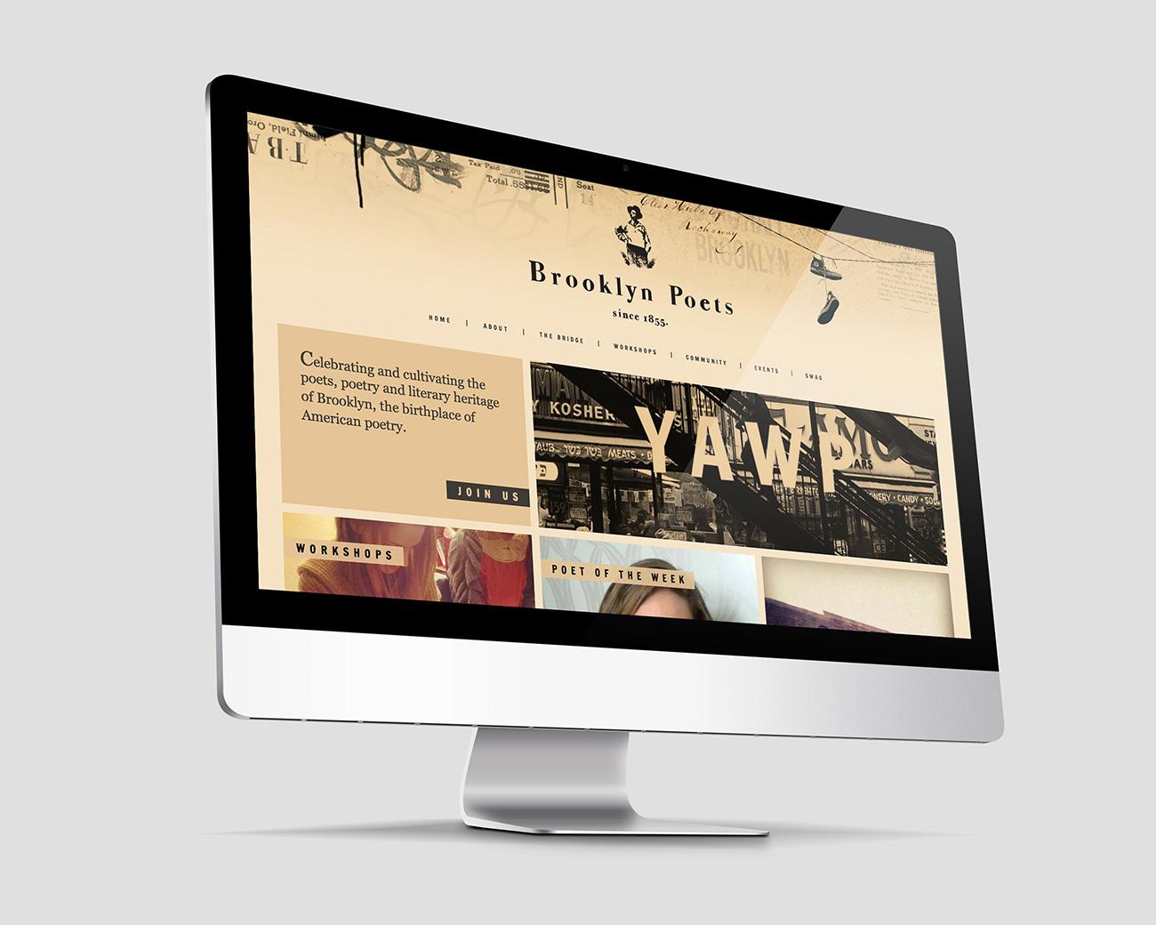 Brooklyn Poets Badass Website Header Designed by Worstofall Design