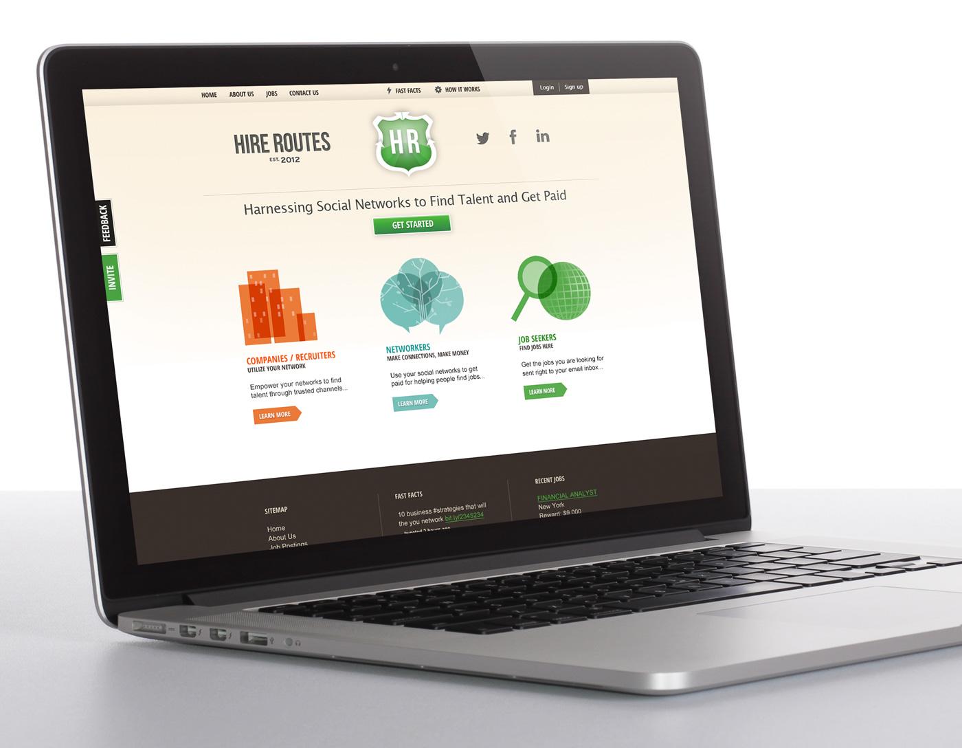 NY Tech Start Up Website design and branding