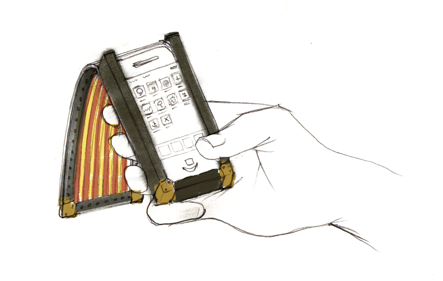 Fashion accessories illustrations iphone design