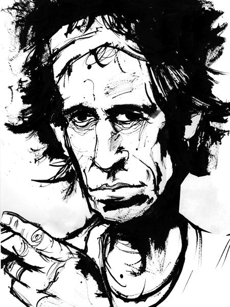 Steven Tyler Illustration Portrait Art