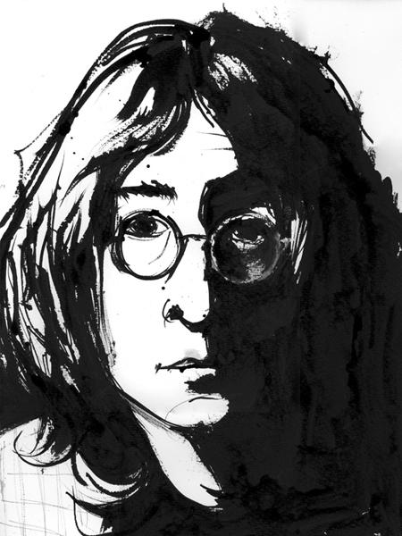 John Lennon Illustration Portrait Art