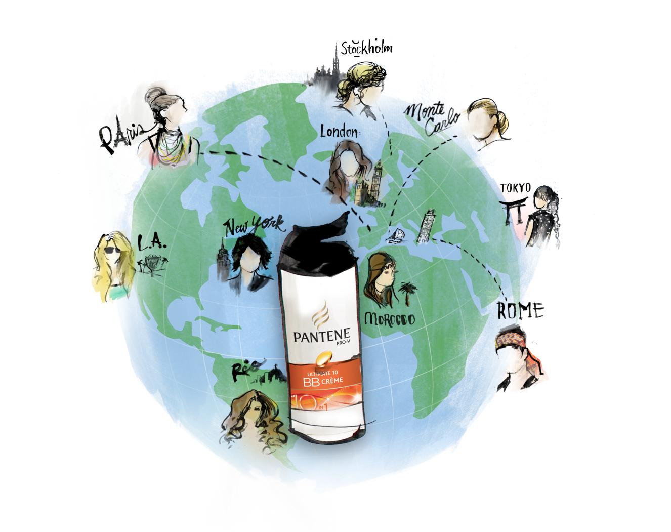 Illustration for Pantene Pro-V Social Media