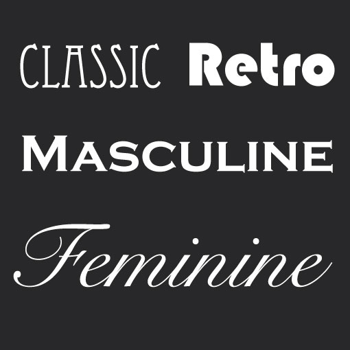 learn about font personalities