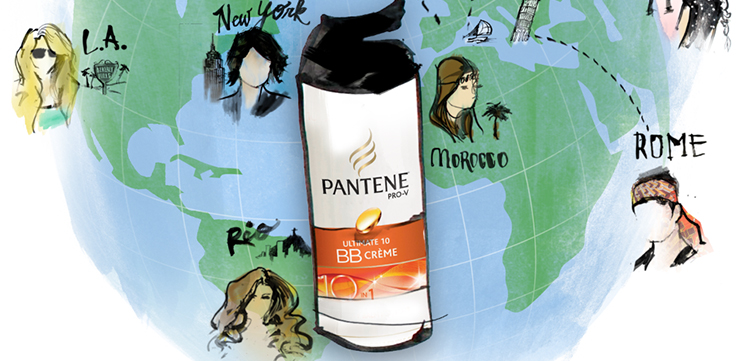 brooklyn art illustration for brands pantene