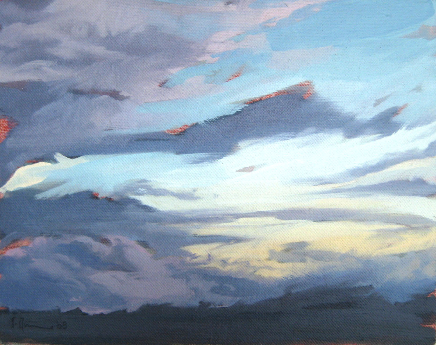 Tracey Quinn_2011_Study Dusk Audleystown_oil on canvas_20 x 25cm.jpg