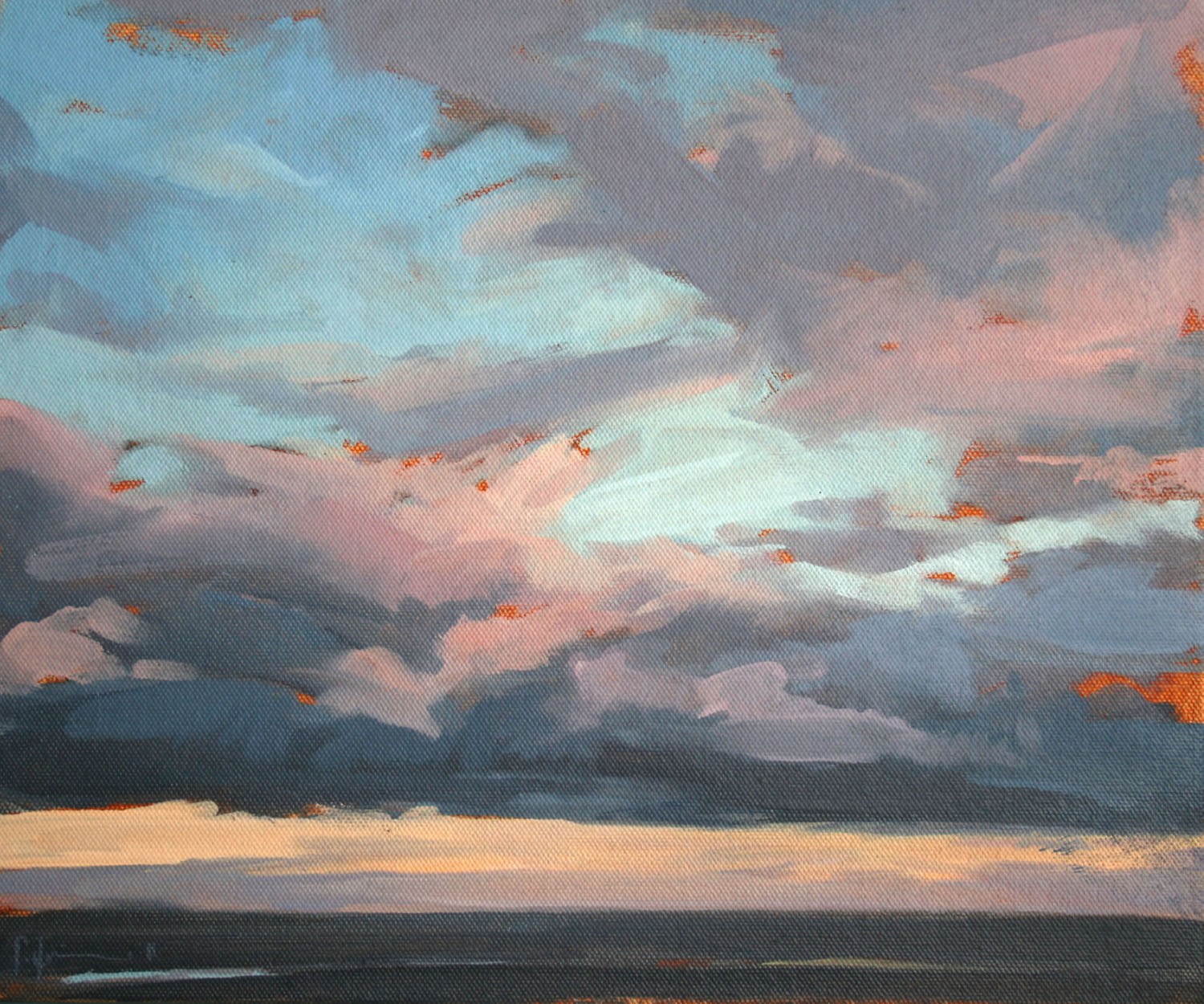 Tracey Quinn_2011_Study Dusk Belshaws_oil on canvas_25 x 30cm.jpg