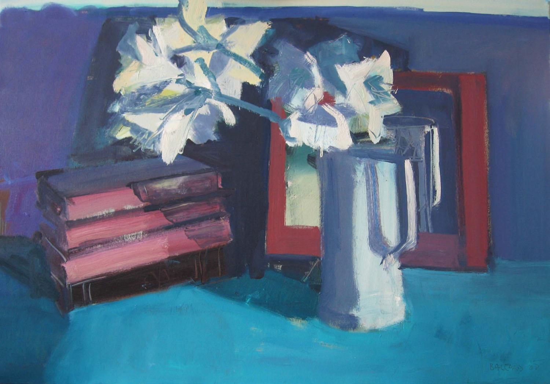 Brian Ballard_-_Lilies and Four Books_70 x 100cm.jpg