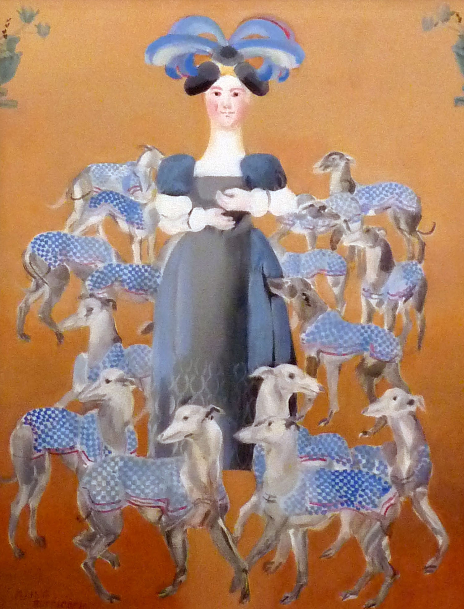 Anne of Denmark with her many Whippets_-_oil on canvas_45 x 35cm.jpg