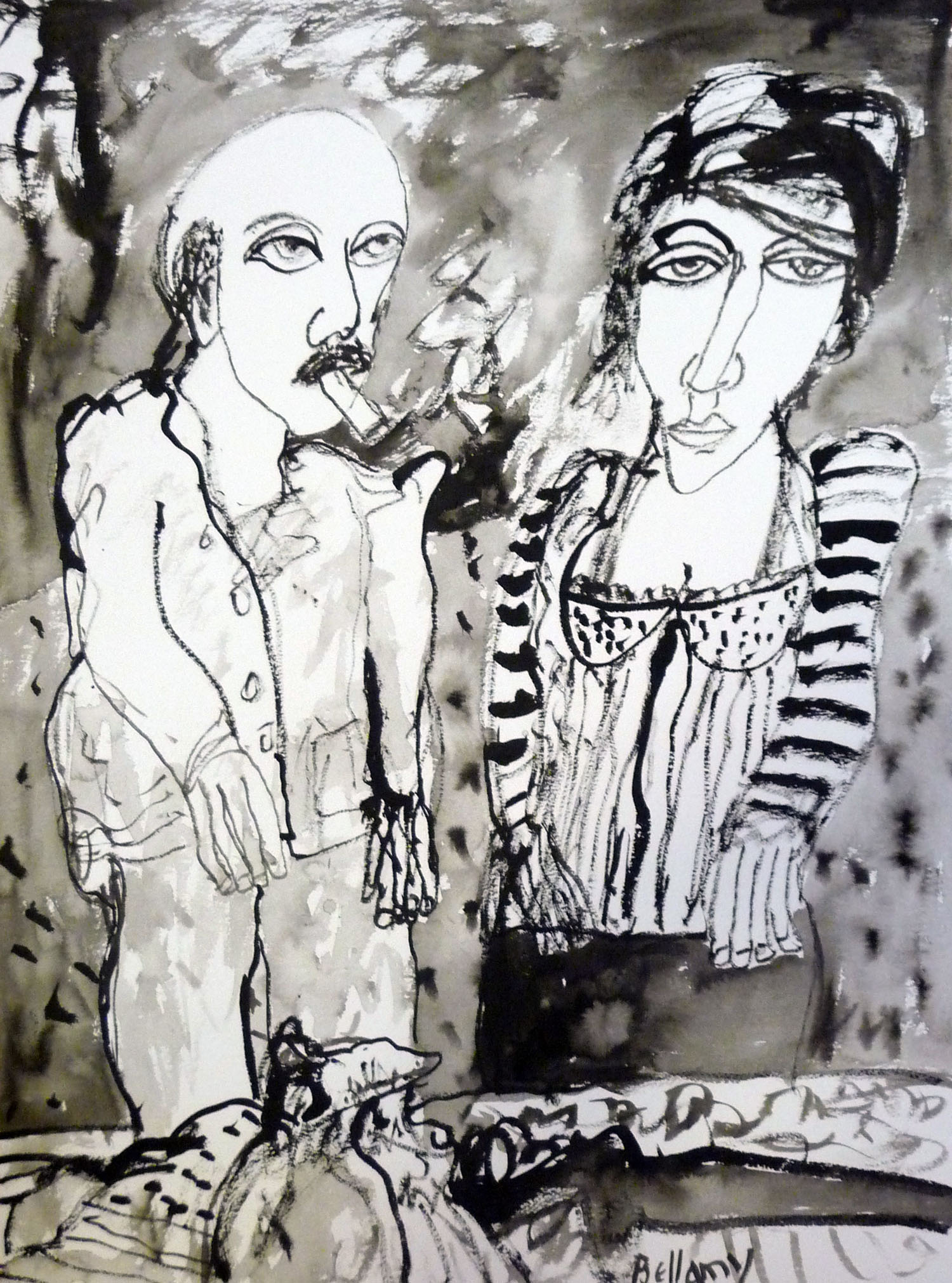 John Bellany_-_Odd Couple_inkwash drawing_76 x 56cm.jpg