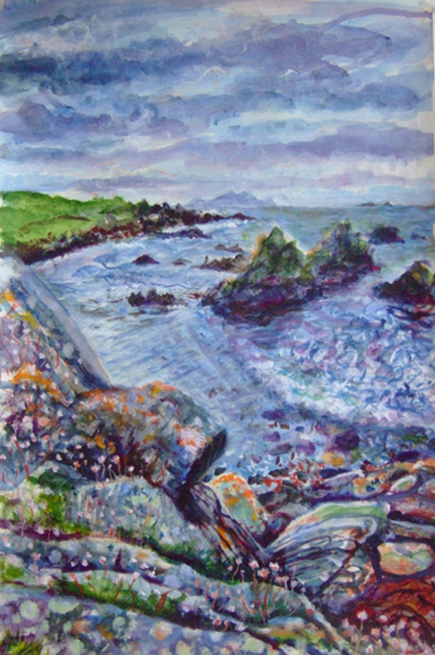 Sarah Longley_-_A Glinder at Foula_acrylic on card_91 x 61cm.jpg