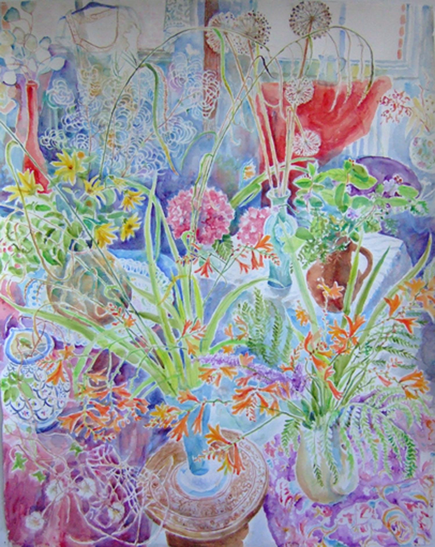 Sarah longley_-_Garden Flower_watercolour_152.5 x 122cm.jpg