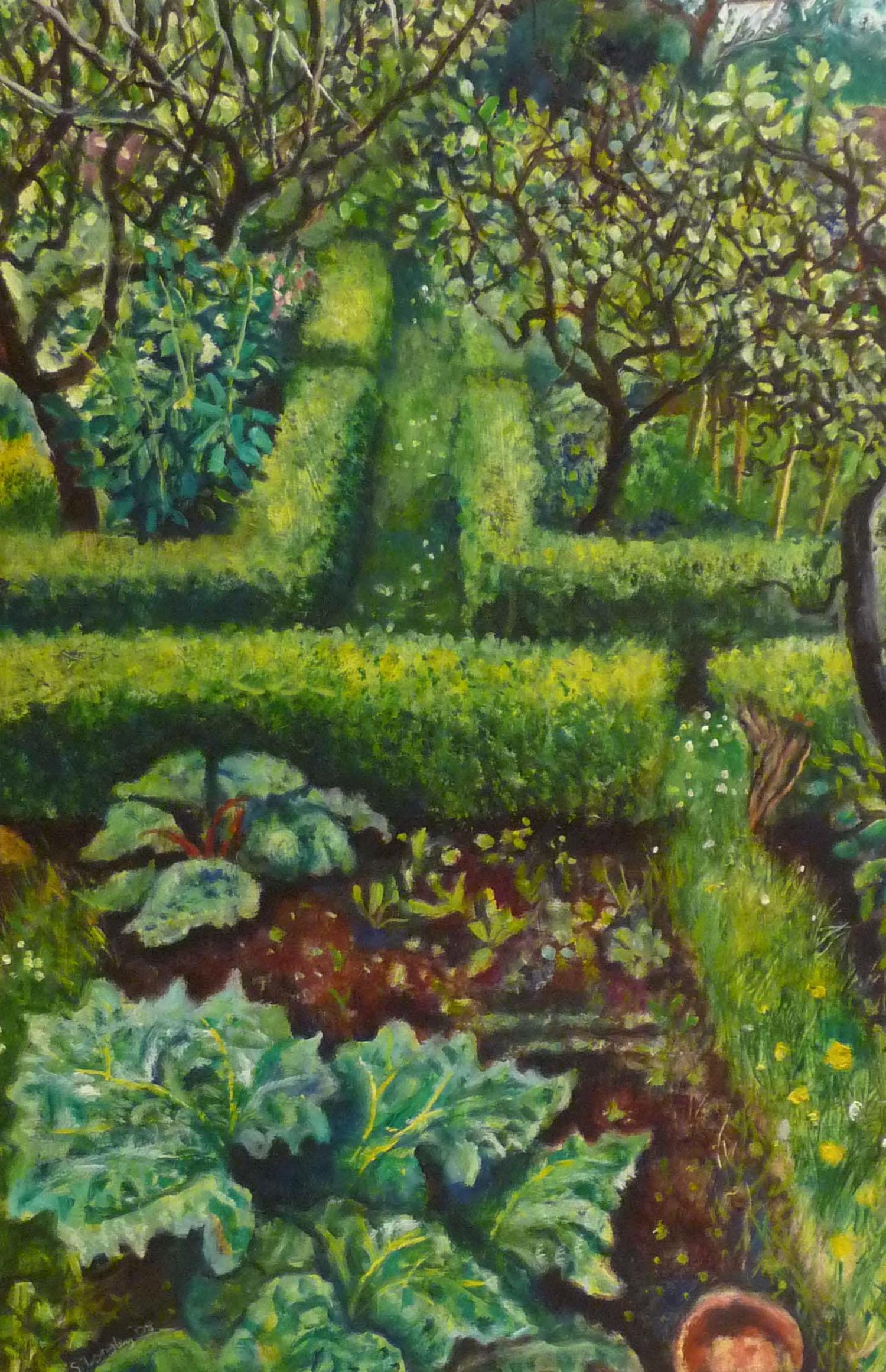 Sarah Longley_-_Rhubarb Plants_oil on board_61 x 41cm.jpg