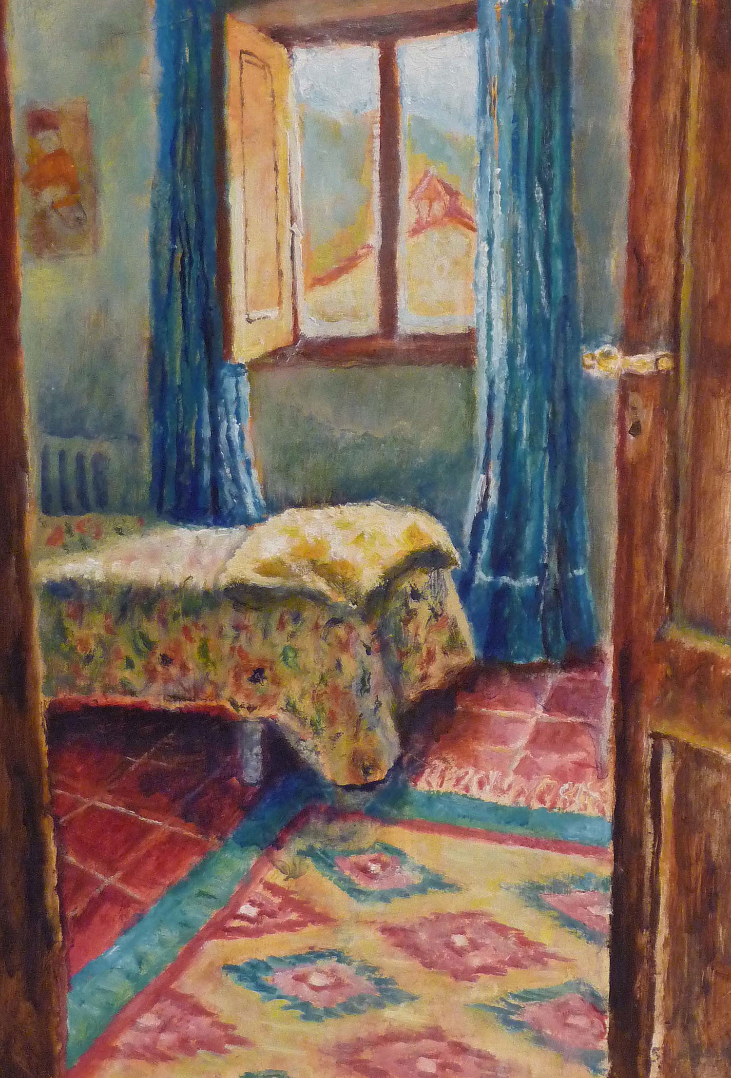 Sarah Longley_-_The Blue Curtains_oil on board_45 x 31cm.jpg