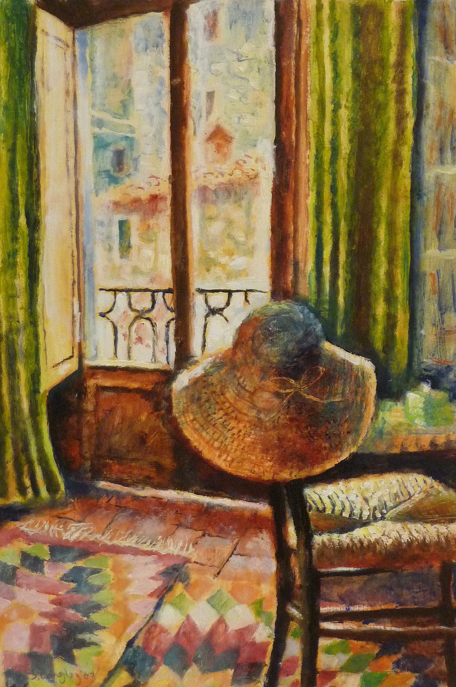 Sarah Longley_-_The Sun Hat_oil on board_45 x 31cm.jpg