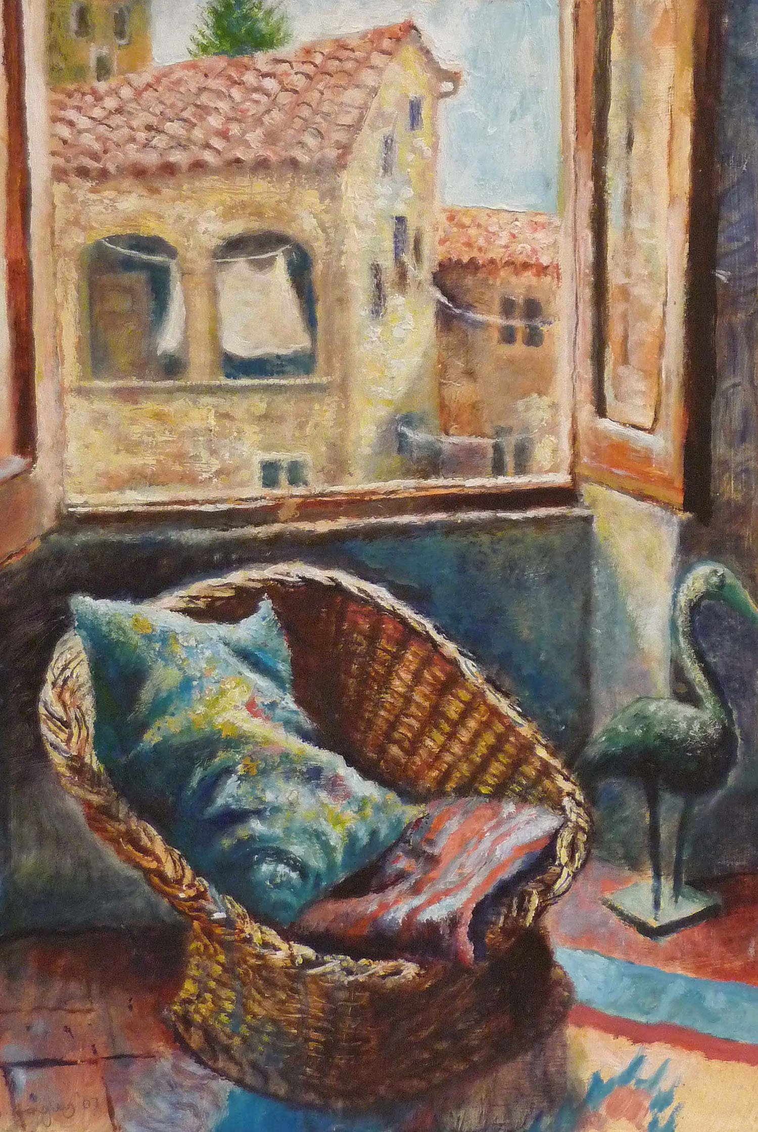 Sarah Longley_-_Wicker Chair and Heron_oil on board_45 x 31cm.jpg