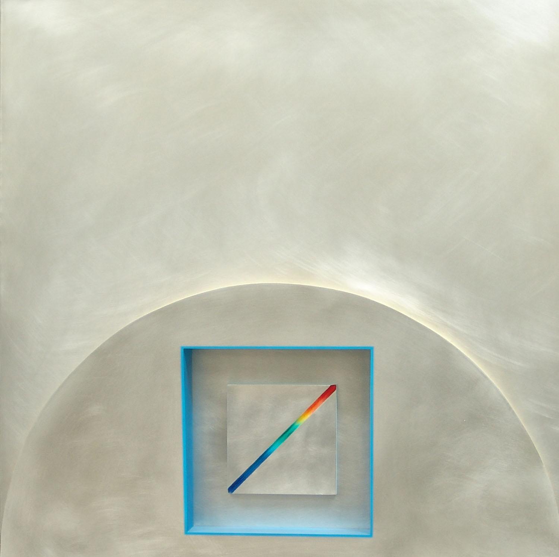 Brian King_2005_Fermie's Pile No.2_alluminium_65 x 65cm.jpg