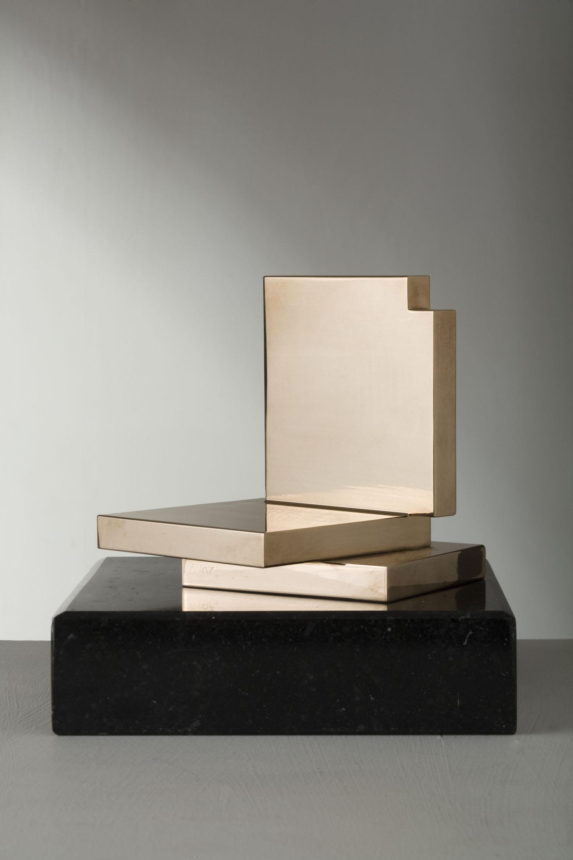 Michael Warren_-_Palcoscenico_polished milled bronze_11.5 x 10.5 x 11.5cm.jpg
