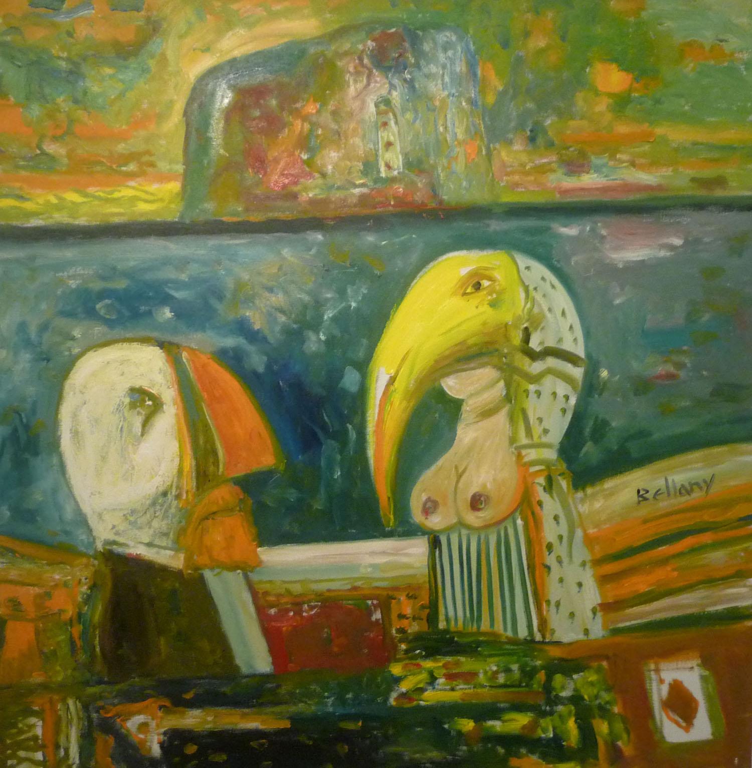 John Bellany 'Puffin Mystery' oil on canvas 122x122cm.jpg