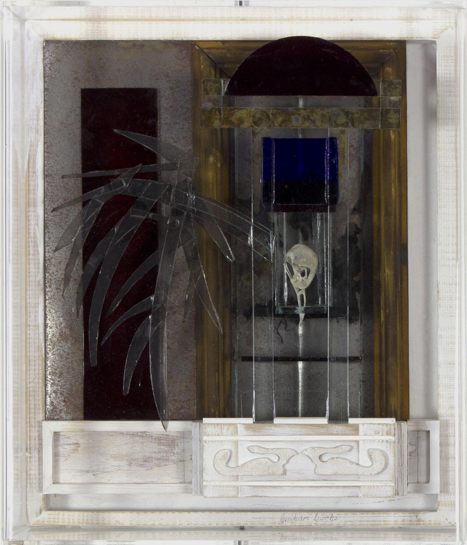 Graham Gingles 'Glass Bird II' mixed media 32x27x13cm.jpg