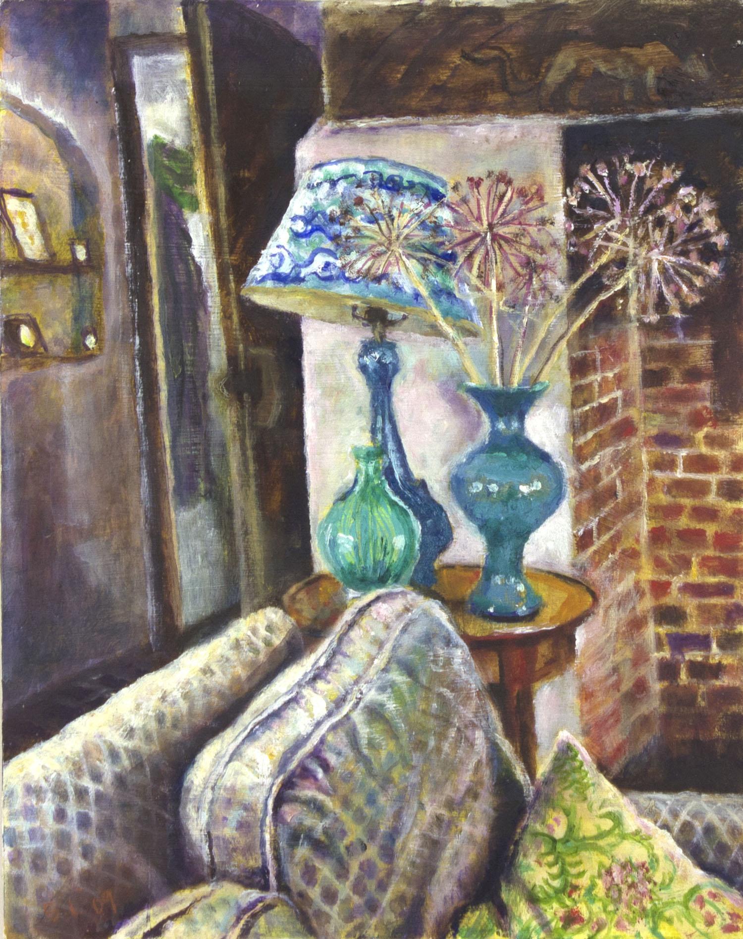 Sarah Longley 'Fireside' oil on board 35x28cm.jpg