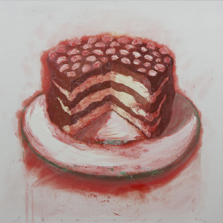 Neil Shawcross 'Cake' 2010 oil on board 90x90cm.jpg