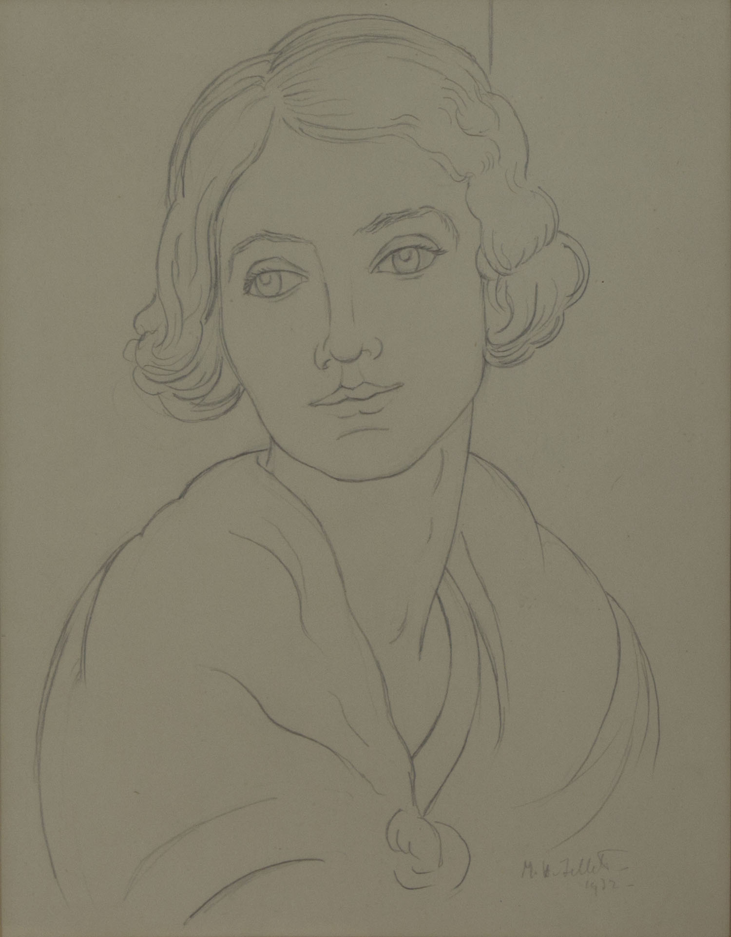 Mainie Jellett 'Head Of A Girl' 1932 pencil drawing on paper 29x23cm.jpg