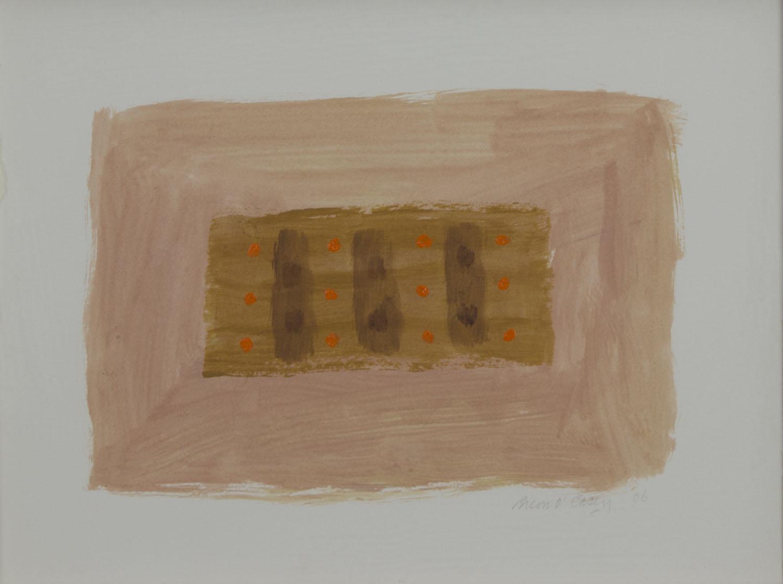 Breon O'Casey 'Orange Dots' oil on paper 28x38cm.jpg