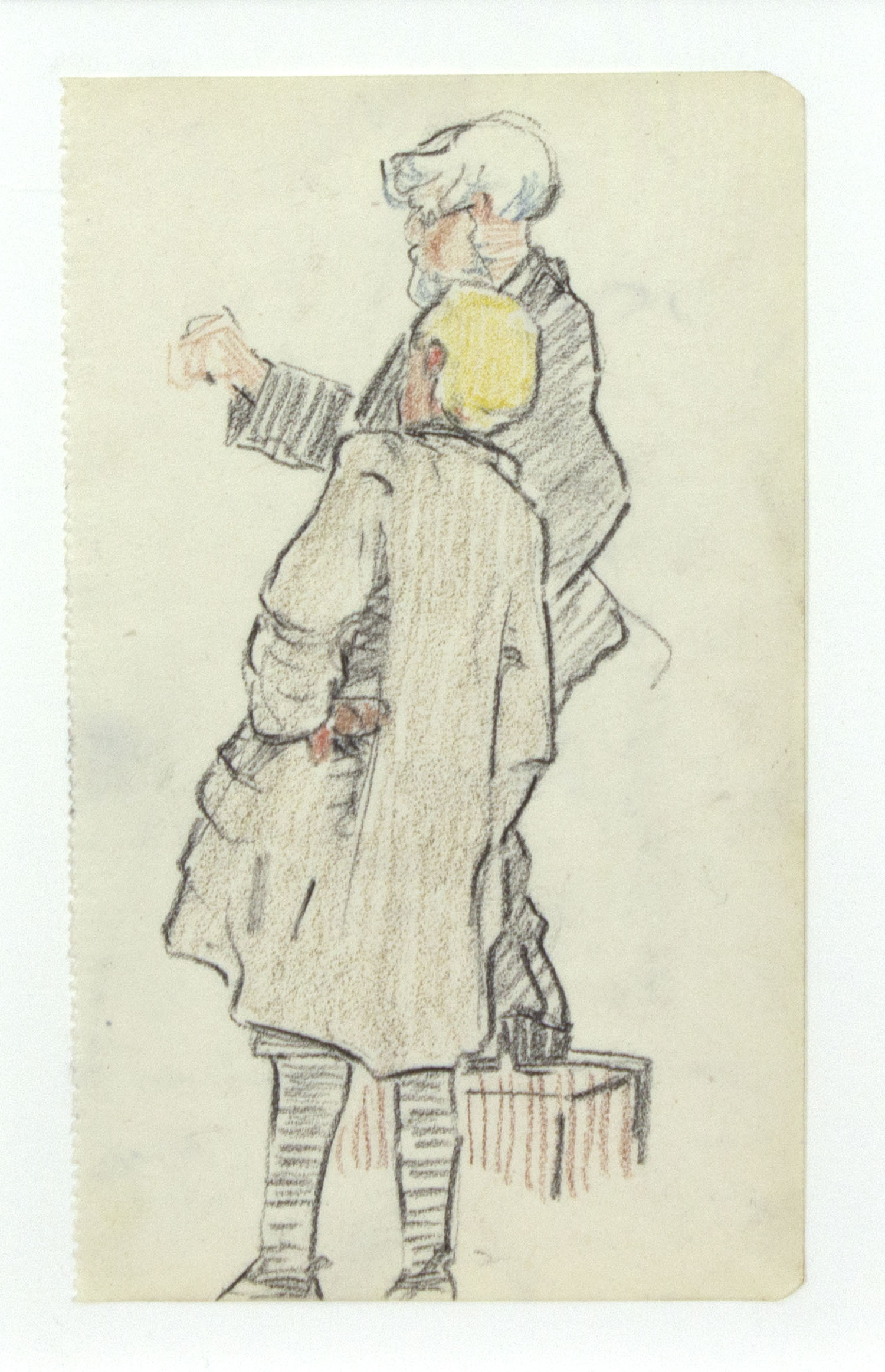Mary Swanzy 'The Drawing Lesson' c.1905 coloured pencil drawing 14x9cm.jpg