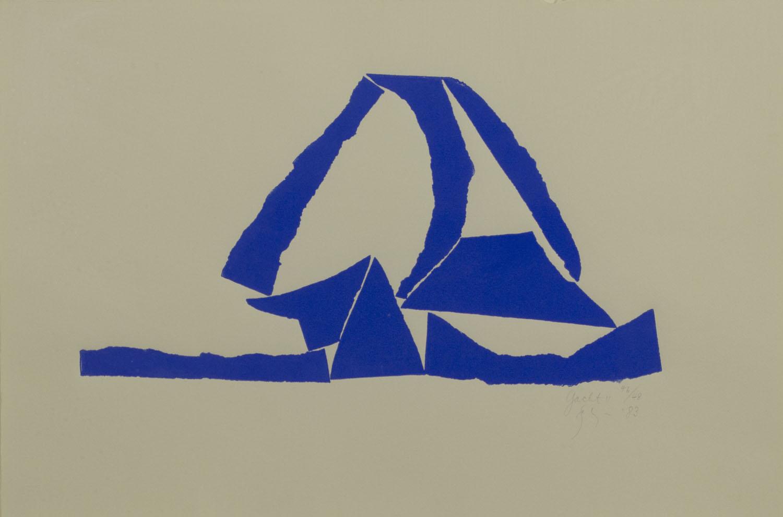 Barry Flannagan 'Yacht 2' screenprint 38x57cm.jpg