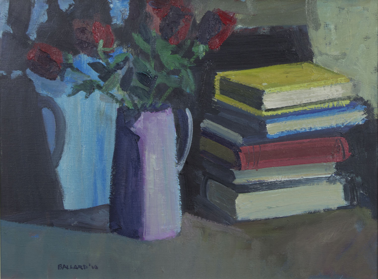 Brian Ballard 'Roses With Books' oil on canvas 45x60cm.jpg