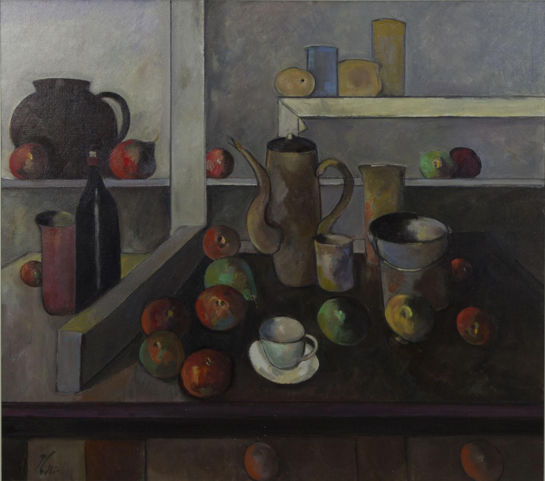 Peter Collis RHA 'Still Life With Coffee Pot' oil on canvas 81x91cm.jpg