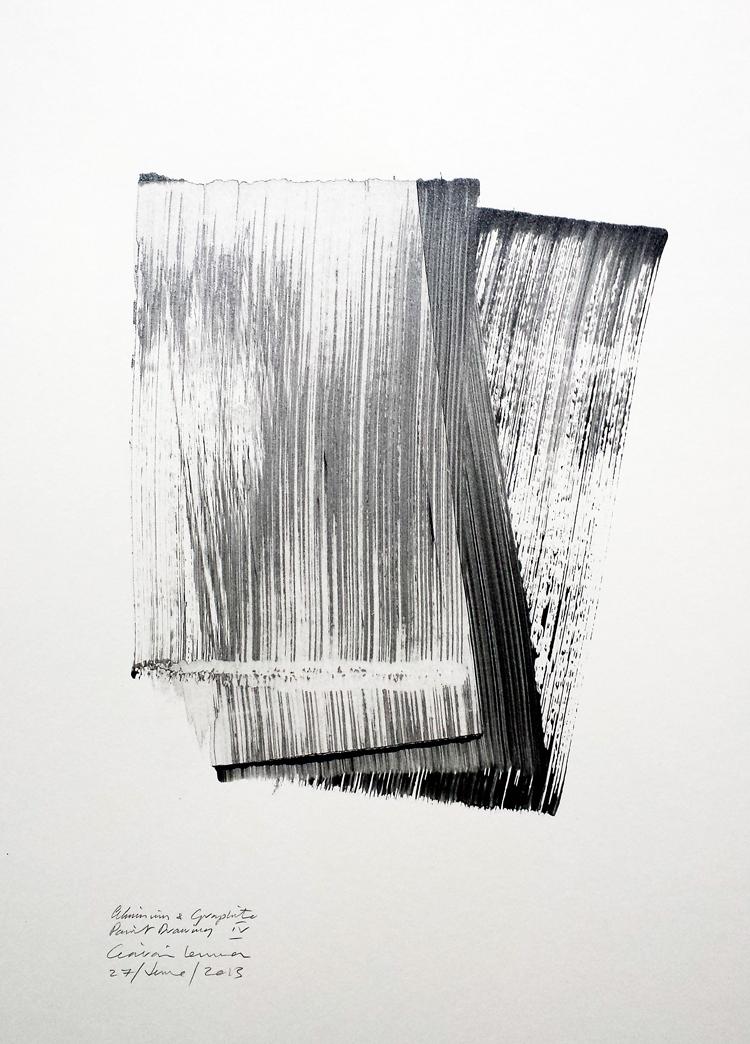 Aluminium & Graphite Paint Drawing IV