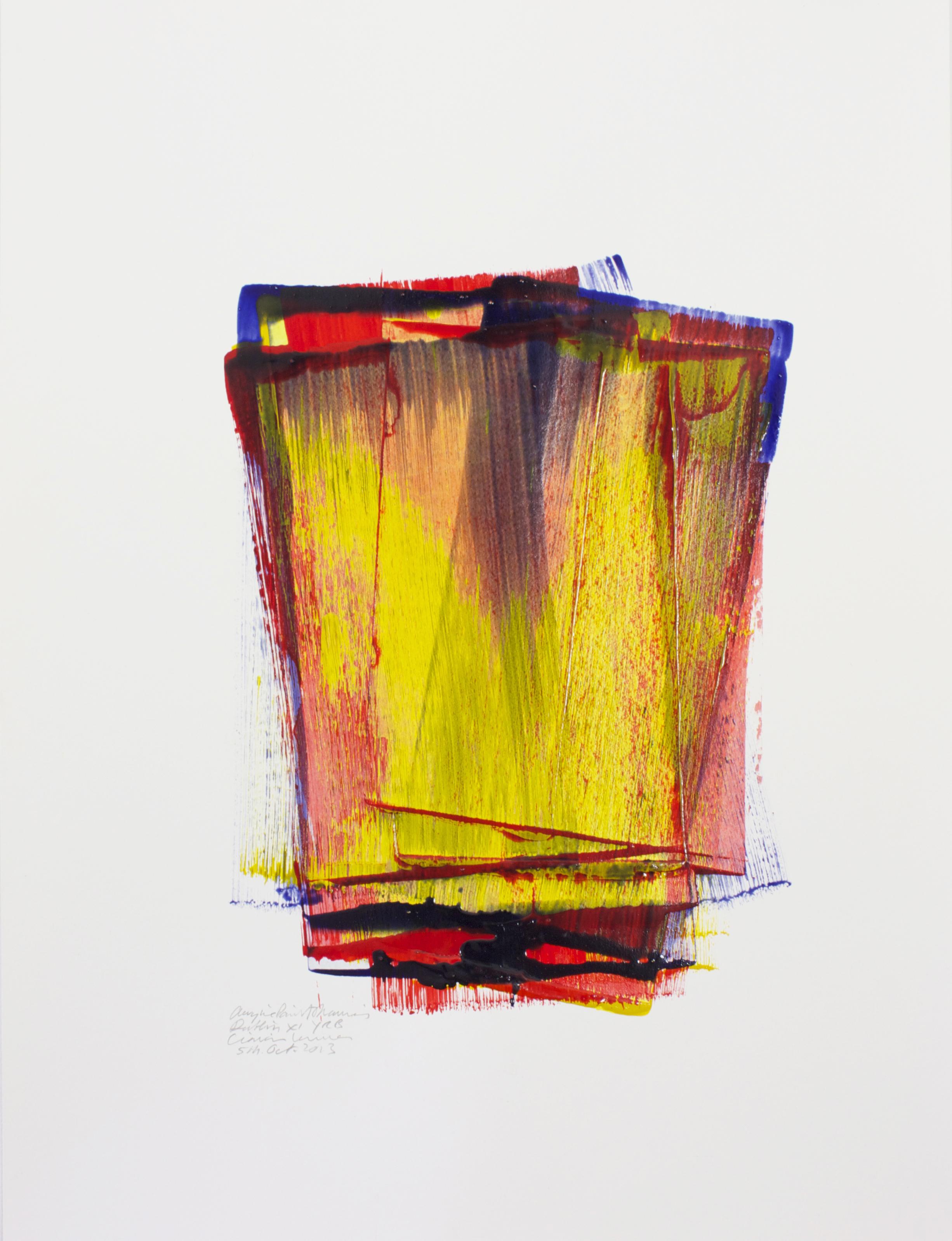 XI YRB    Acrylic Paint Drawing, 79x59cm